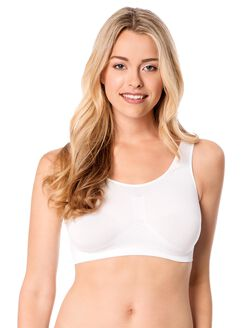 Seamless Lightly Lined Maternity Bra, White