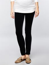 AG Jeans Secret Fit Belly Velveteen Maternity Skinny Pants, Black