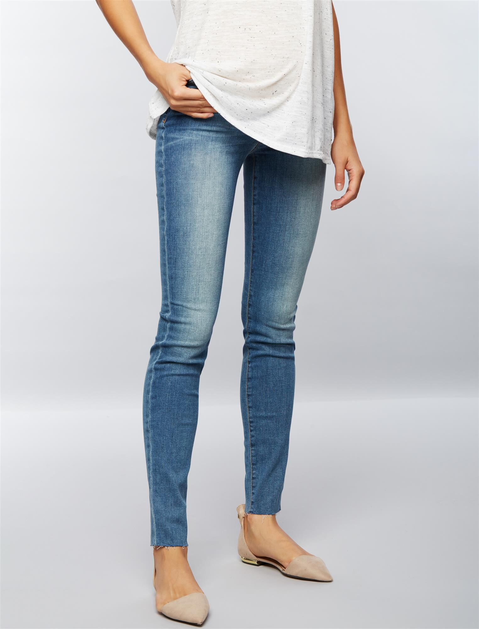 Joe's Secret Fit Belly Skinny Fray Hem Maternity Jeans