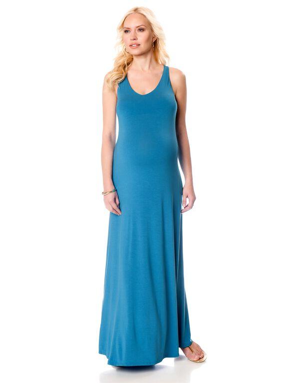 Vince Maternity Racerback Maxi Dress, Blue