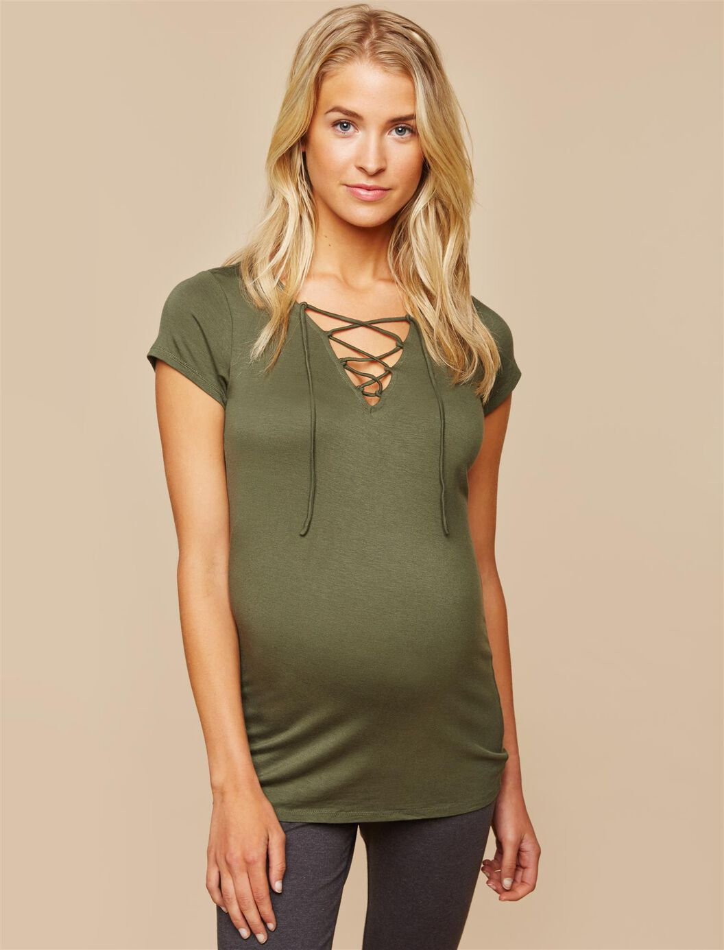 Tie Front Maternity Top at Motherhood Maternity in Victor, NY   Tuggl