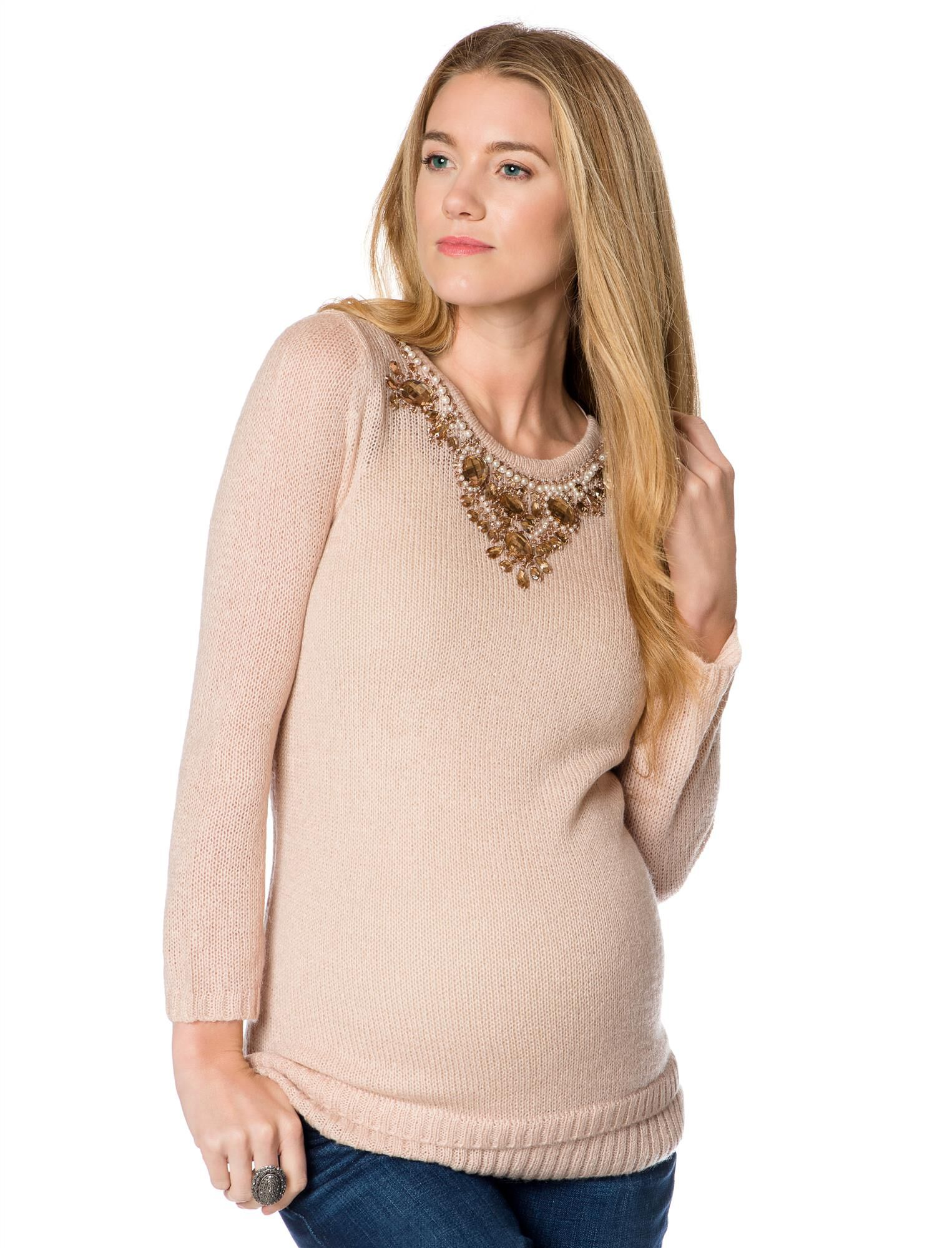 Design History Embellished Maternity Sweater