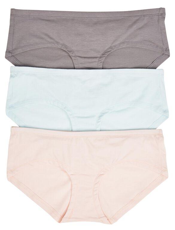 Maternity Hipster Panties (3 Pack), Grey Multi Pack