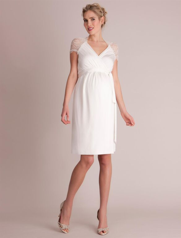 Seraphine Luxe Chelsey Maternity Dress, White