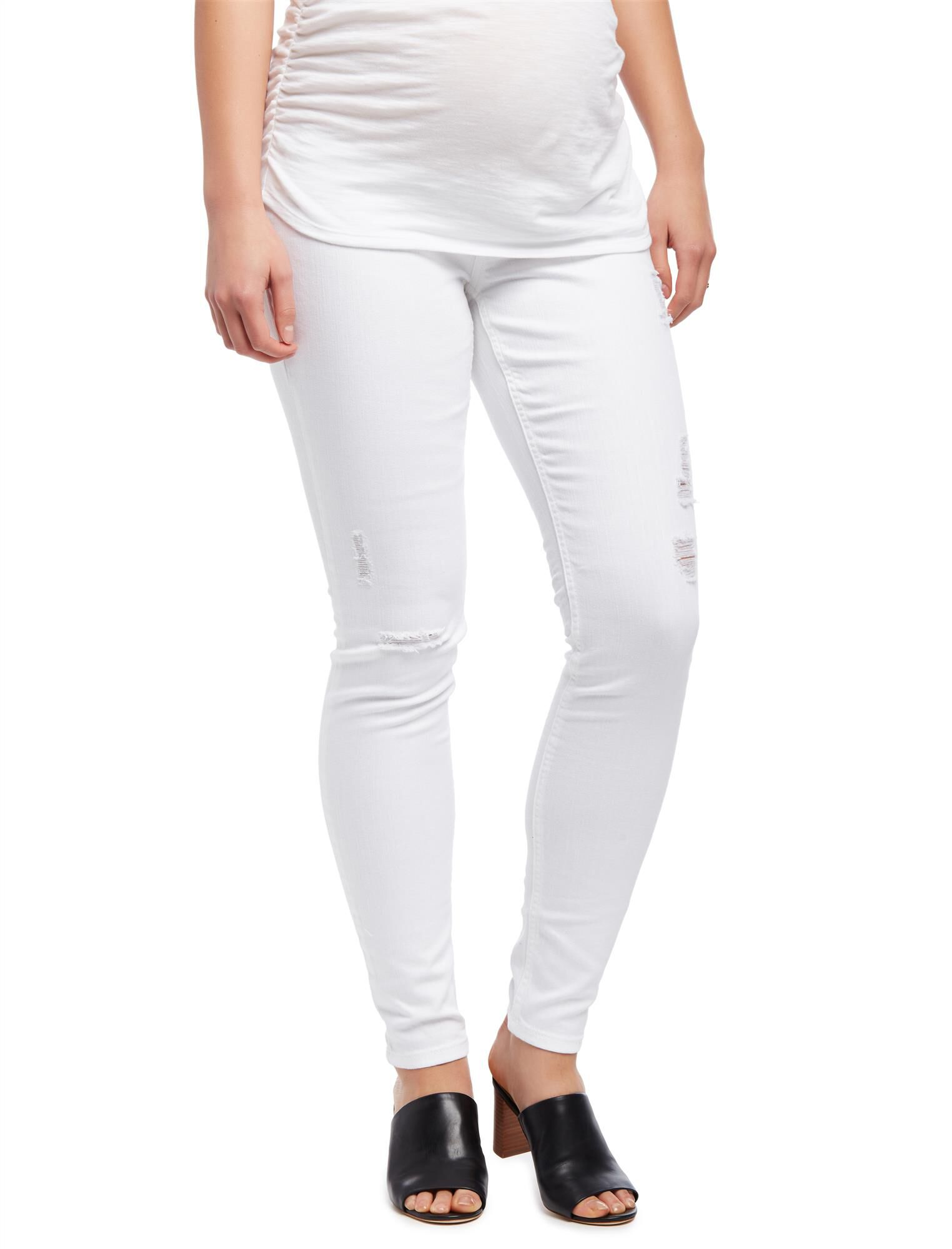 Secret Fit Belly Destructed Skinny Maternity Jeans