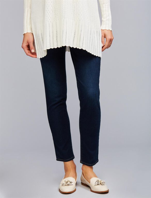 Luxe Essentials Denim Under Belly Ankle Maternity Jeggings, Rinse Wash