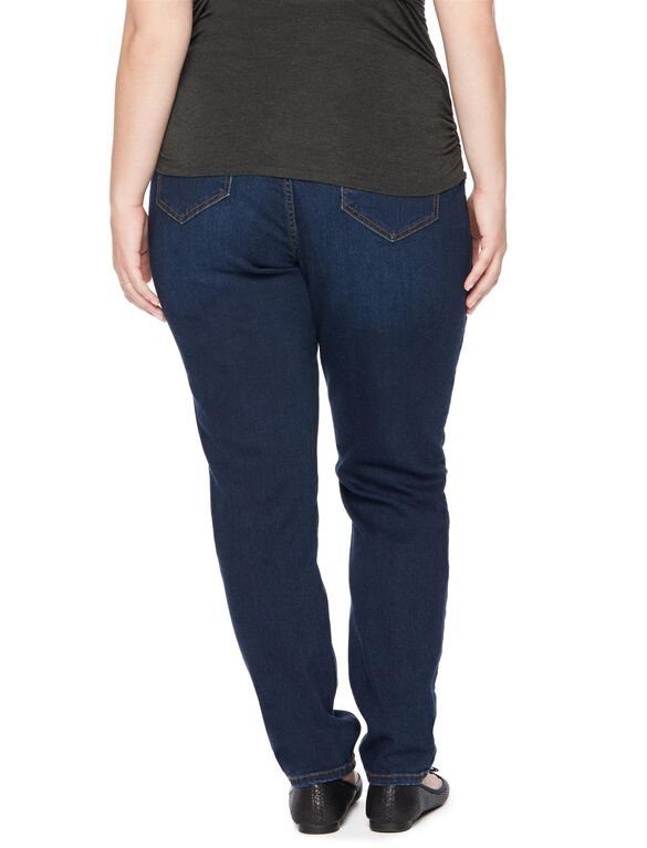 Jessica Simpson Plus Skinny Leg Maternity Jeans, Dark Wash