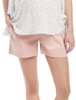 Under Belly Twill Chino Maternity Shorts, Ashen Rose