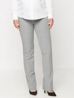 Secret Fit Belly Straight Maternity Suiting Pants, Light Grey