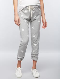 Splendid Under Belly Star Print Maternity Jogger Pants, Star Print