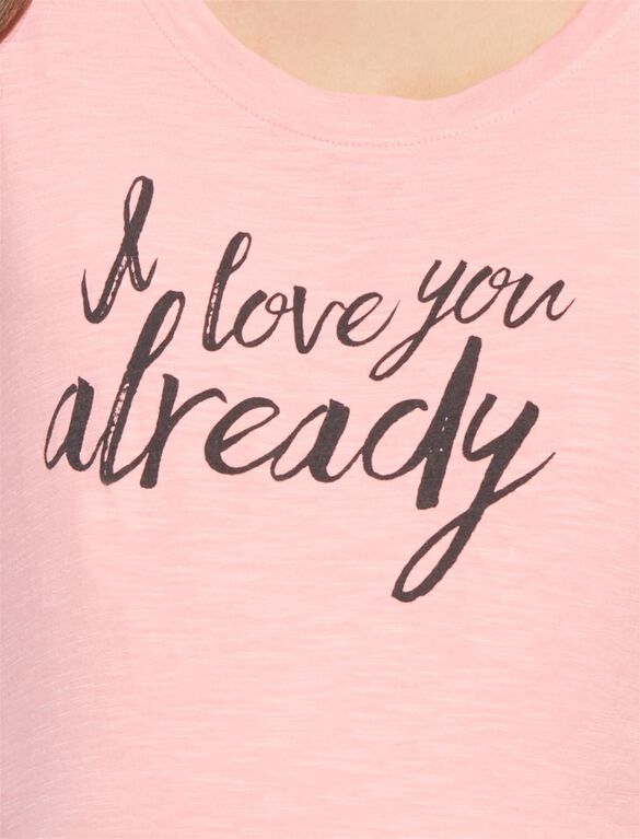 I Love You Already Maternity Tee, Shell Pink