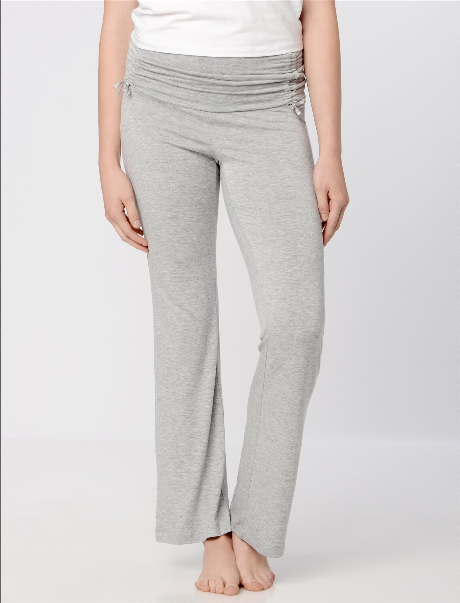 Bow Detail Maternity Sleep Pants- Solids