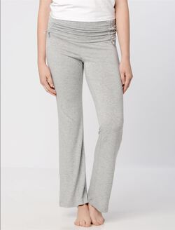 Bow Detail Maternity Sleep Pants- Solids, Heather Grey