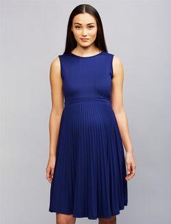 Ripe Pleated Maternity Dress, Navy