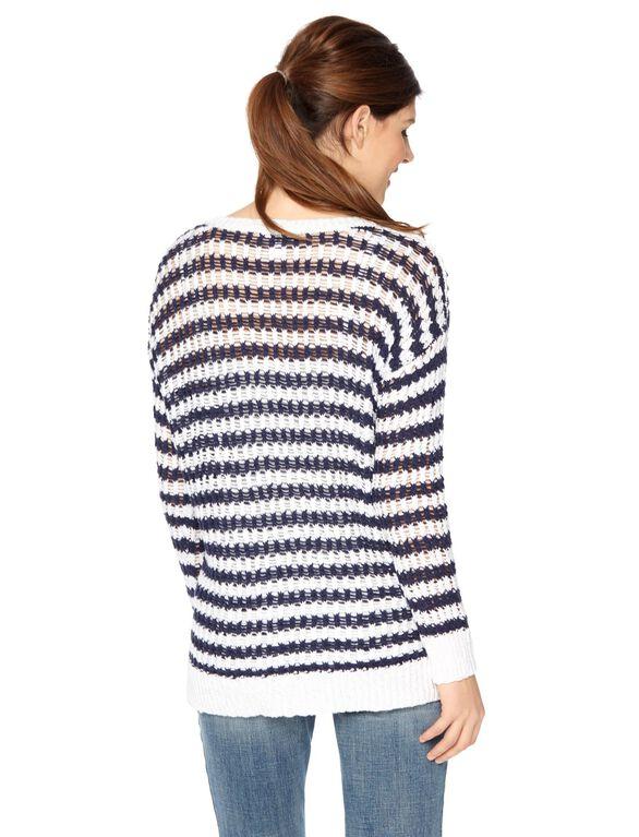 Striped Maternity Sweater, Navy/White Stripe