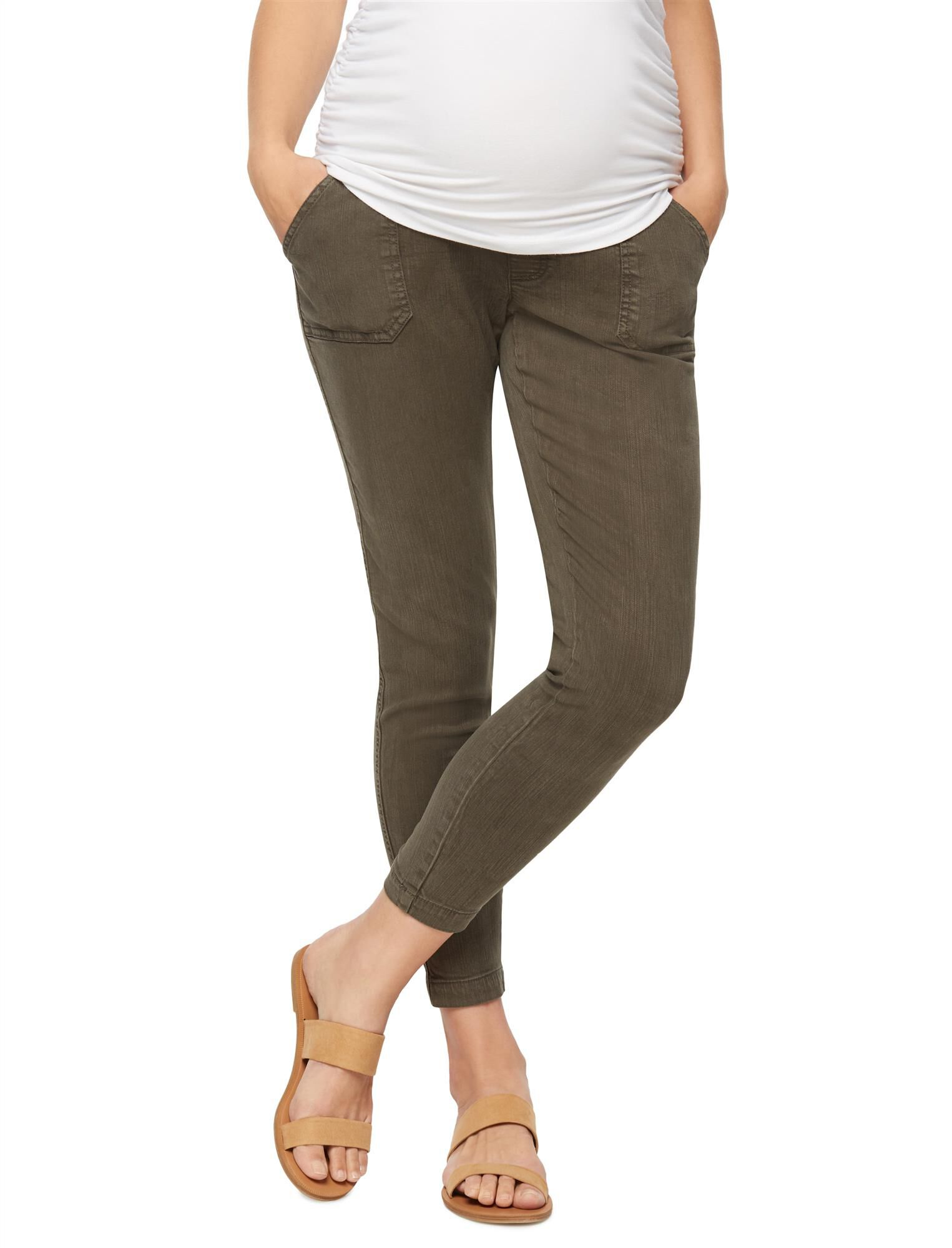 Secret Fit Belly Twill Ankle Maternity Pants