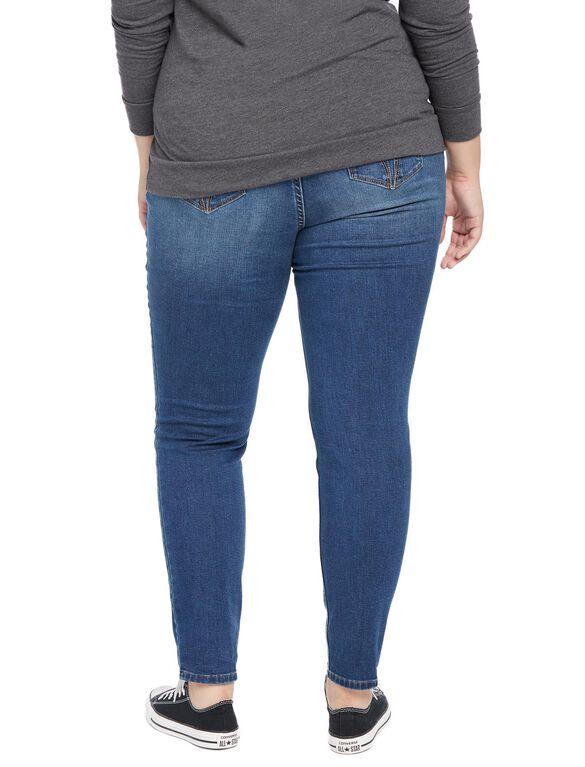 Plus Size Secret Fit Belly Skinny Leg Maternity Jeans, Medium Lake Wash