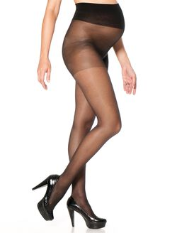Maternity Sheer Compression Hose- Black, Black