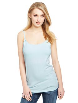 Clip Down Nursing Cami, Aqua Wave