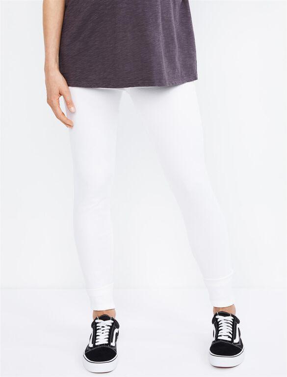 Paige Side Panel Skyline Ankle Peg Maternity Jeans, Optic White