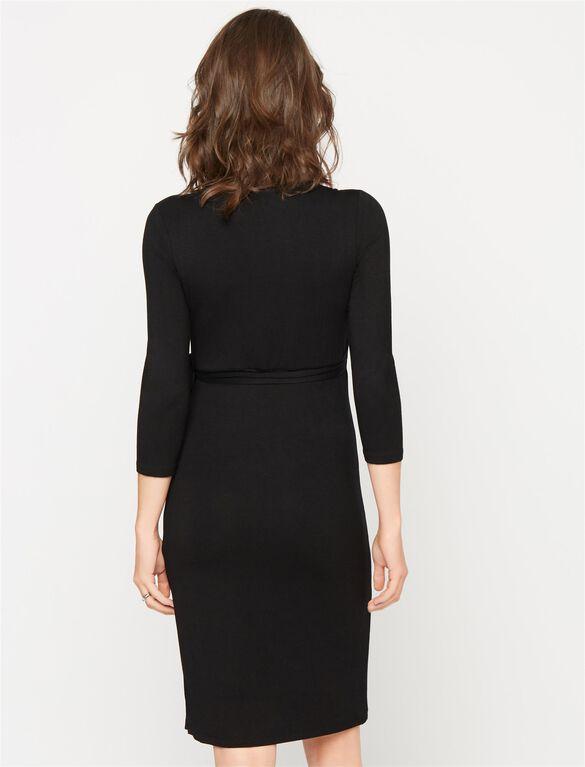 Wrap Maternity Dress, Black