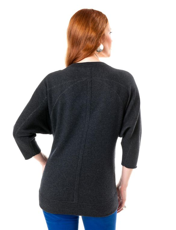 Dolman Sleeve Maternity Top, Charcoal