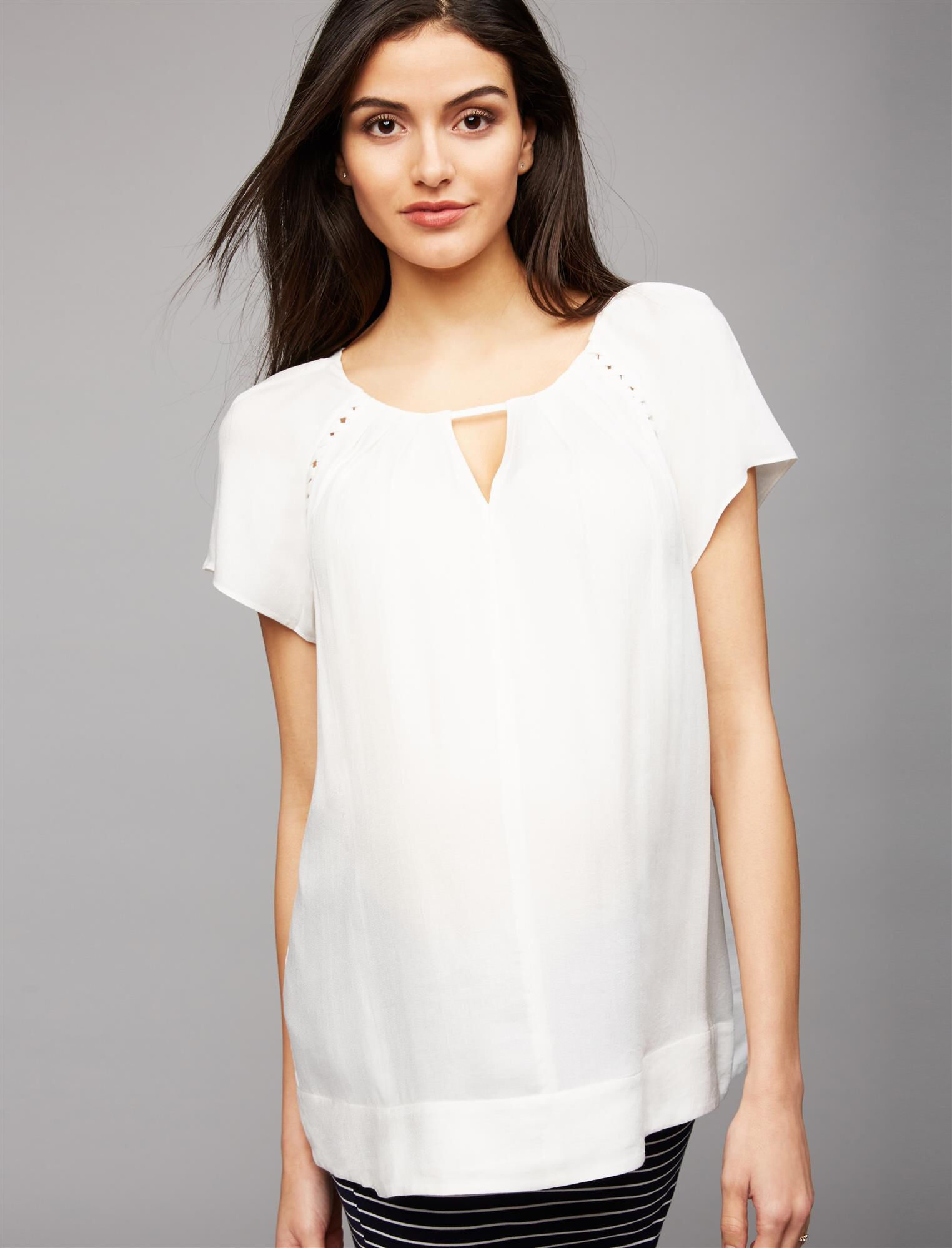 Ella Moss Keyhole Detail Maternity Top