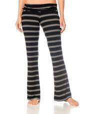Tie Detail Maternity Sleep Pant, Black/White Stripe