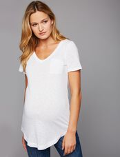 Splendid Super Soft Maternity T Shirt, White