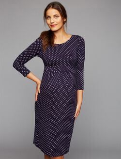 Isabella Oliver Shift Dress Maternity Dress, Polka Dot Print