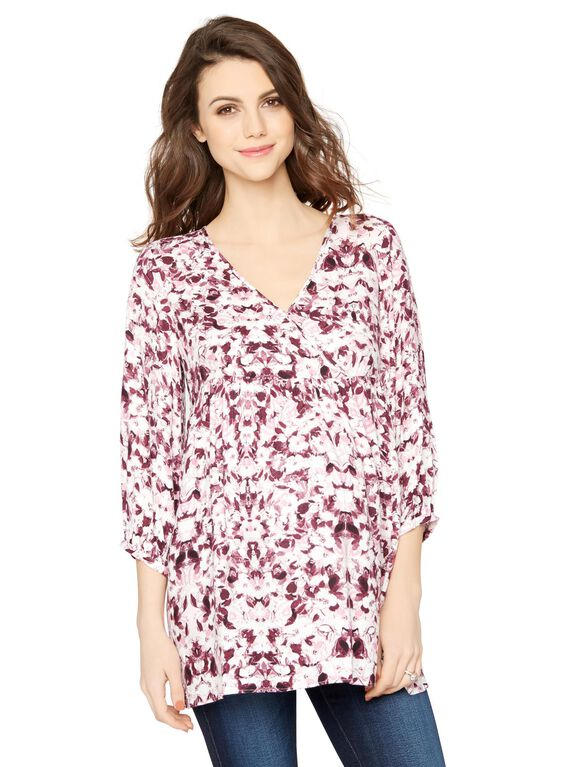 Babydoll Maternity Blouse, Floral Print