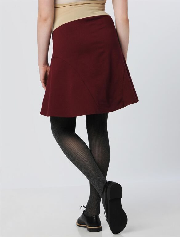 Secret Fit Belly Fit And Flare Maternity Skirt, Cranberry