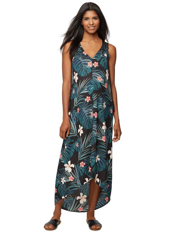 Rachel Zoe Sleeveless Floral Maternity Maxi Dress, Jungle Print