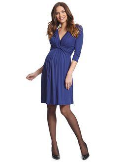 Seraphine Jolene Long Sleeve Maternity Dress, Royal Blue