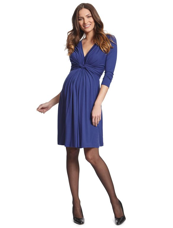 Seraphine Jolene Long Sleeve Maternity Dress, Royal Blue