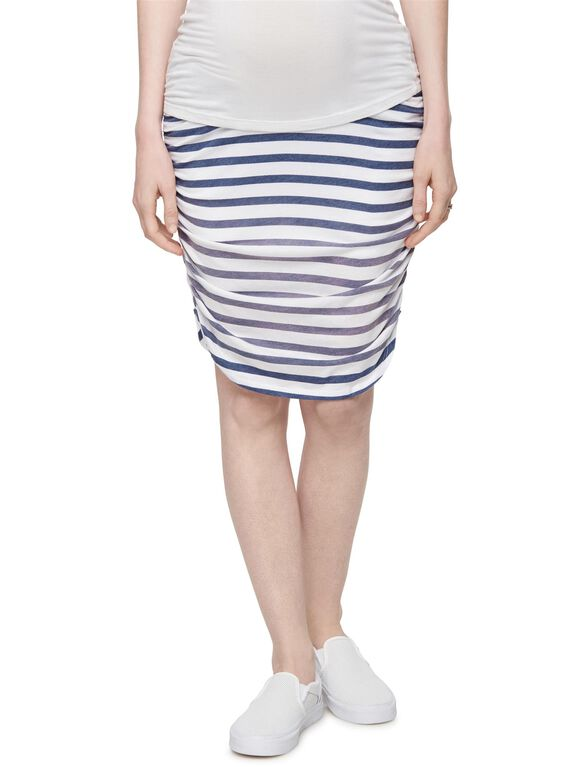 Splendid Secret Fit Belly Pencil Fit Maternity Skirt, Navy