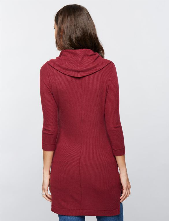 Super Soft Maternity Tunic- Burgundy, Fall Burgundy