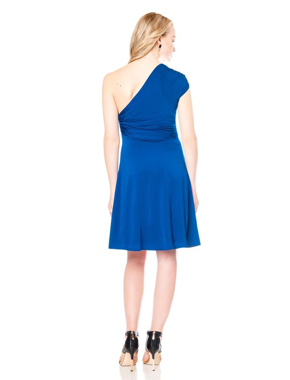 One Shoulder Maternity Dress, Royal