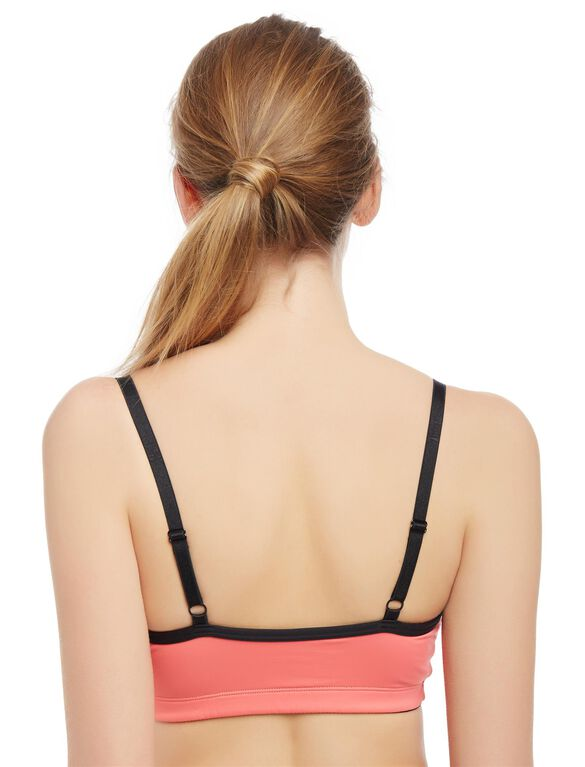 Sports Clip Down Nursing Bra, Coral