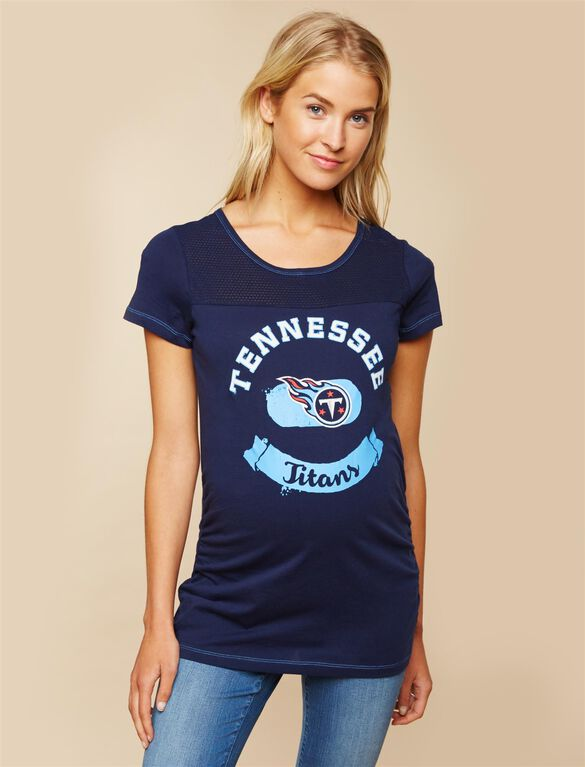 Tennessee Titans NFL Mesh Detail Maternity Tee, Titans