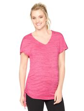 Side Tie Maternity Shirt, Pink