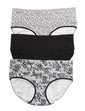 Maternity Fold Over Panties (3 Pack)- Black/Grey Animal, Black/Grey Animal