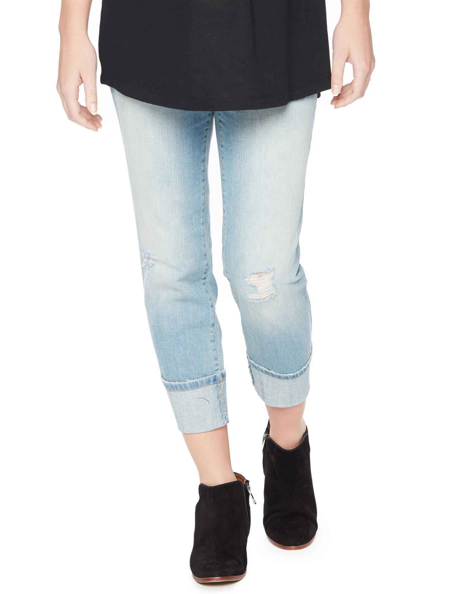 Secret Fit Belly Cuffed Crop Maternity Jeans