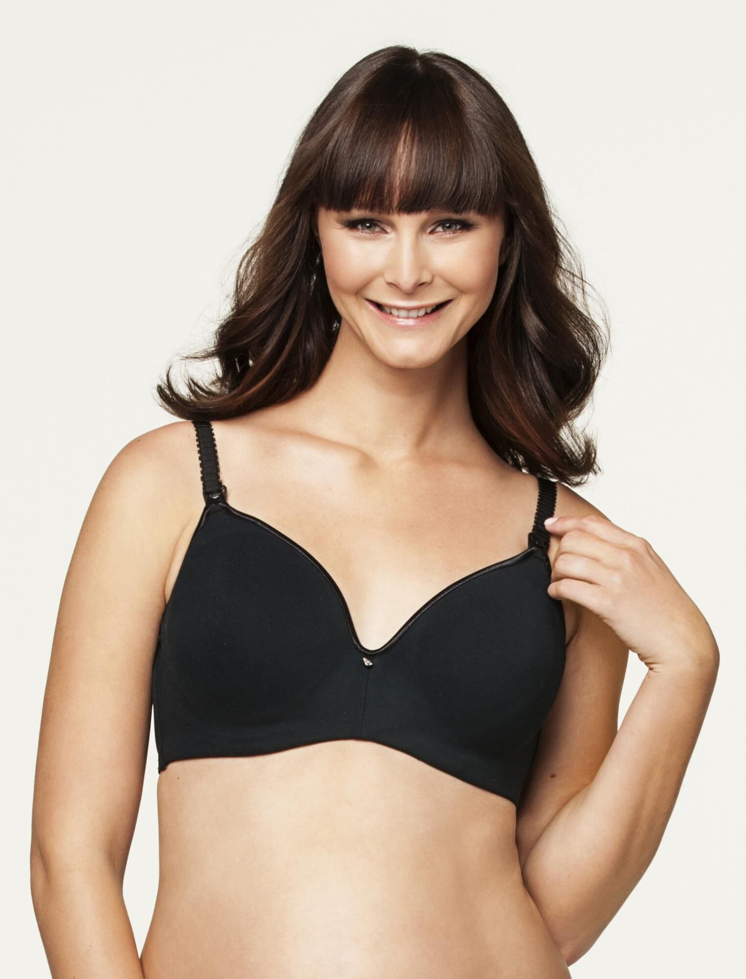 Cake Lingerie Croissant Smoothing Flexi Wire Nursing Bra- Black