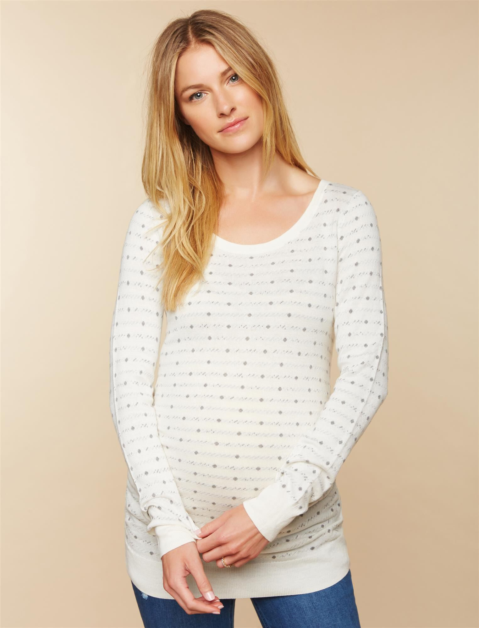 Side Ruched Maternity Sweater