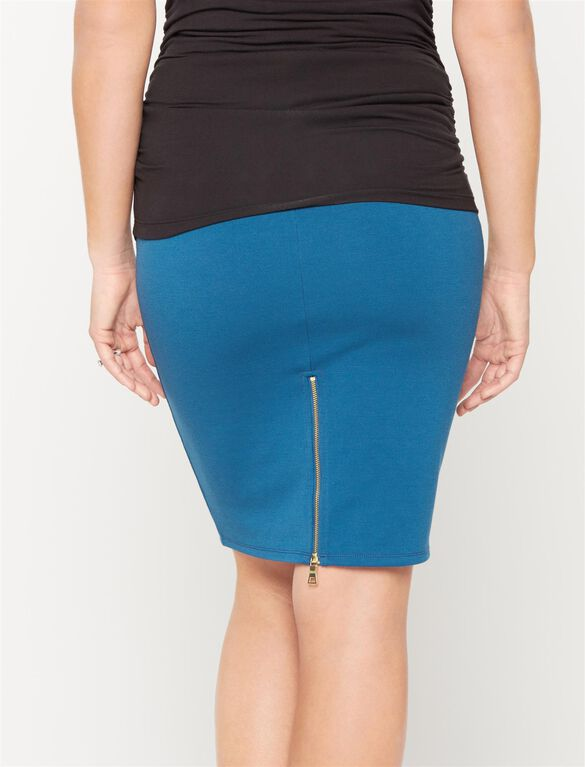 Rachel Zoe Secret Fit Belly Ponte Maternity Skirt, Cobalt