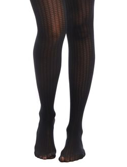 Ribbed Textured Maternity Tights, Black