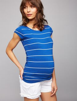 Maternity Shirt, Blue/White Stripe