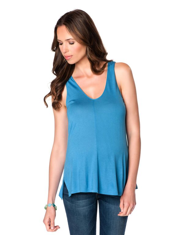 Relaxed Fit Maternity Tank Top, Cote D' Azure