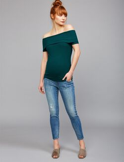 Luxe Essentials Denim Secret Fit Belly Addison Maternity Jeans, Light Wash